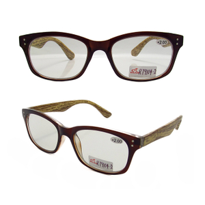 Imitation bamboo leg bifocal readers glasses