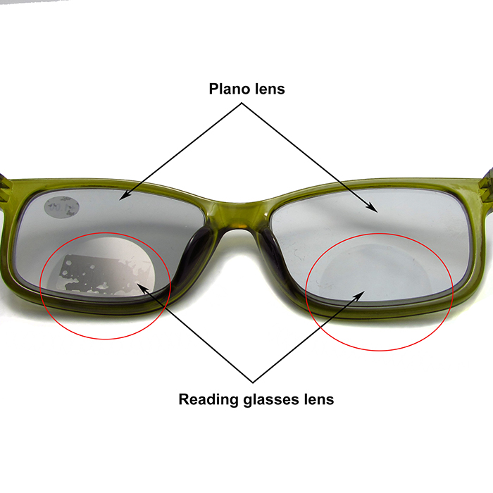 Cheap photochromic bifocal reading glasses