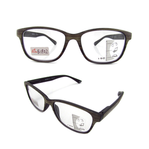 Imitation wood grain plastic reading glasses