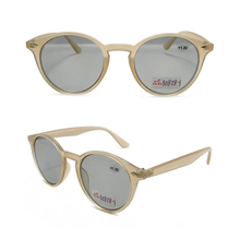 Transparent color frame photochromic bifocal readers glasses