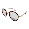 Retro Horn Rim Round Frame Transition Photochromic Glasses