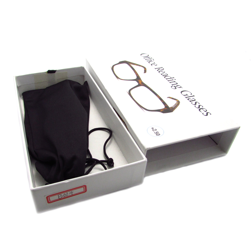 Cardboard drawer type glasses case hard eyeglasses box portable travel glasses accessories