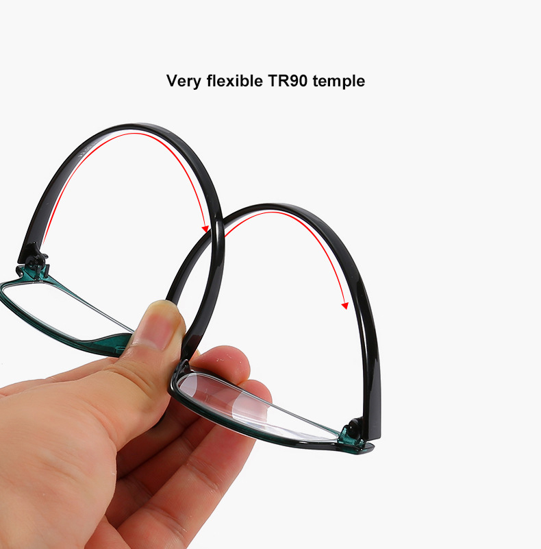 PC reading glasses with longer length temple presbyopic eyeglasses