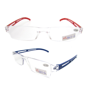 PC rimless reading glasses