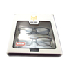 Fashion display box with clear pvc windowfor reading glasses package