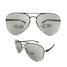 Aviator progressive reading sunglasses