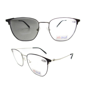 Photochromic bifocal dark grey reading sunglasses +1.50 magnification for women/men