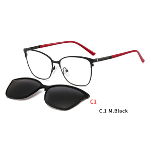 2 In 1 Magnet Clip On Sunglasses Men Metal Shades Sun Glasses Optical Myopia Eyeglasses Frame