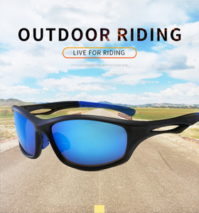 Custom Cycling Glasses Gafas Ciclismo Oversized PC UV400 Outdoor Sports Sunglasses New Design Flexible UV Protection Sun glasses