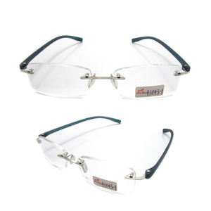 Unisex rimless TR90 temple slim reading glasses