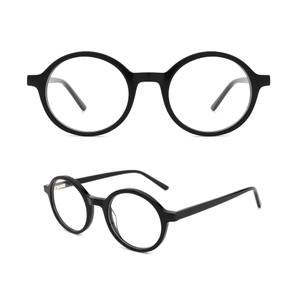 Acetate Men Vintage Round Optical Glasses Frame Spectacles Eyeglasses