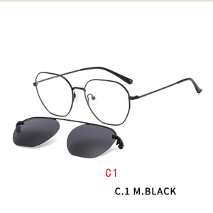 Magnetic Clip on Sunglasses for Men Women Metal Frame