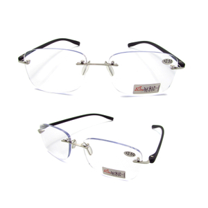 Rimless TR90 temple reading glasses for men