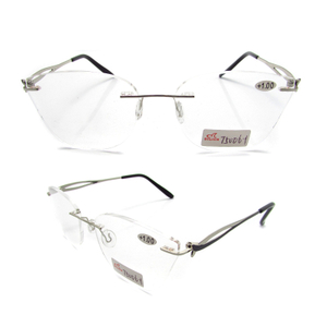 Unisex rimless metal eyewear for reading