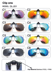 Clip on Sunglasses Flip Up Polarized Lens For Prescription Glasses UV Protection Clips Sun Glasses