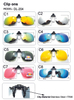 Polarized Clip On Sunglasses Men Women Near-Sighted Driving Night Vision Eyewear UV400 Cycling Fishing Glasses