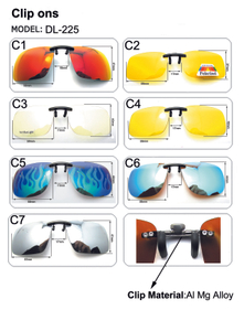 Rimless Rectangle Clip on Sunglasses Lightweight Polarized Eyeglasses Men Women