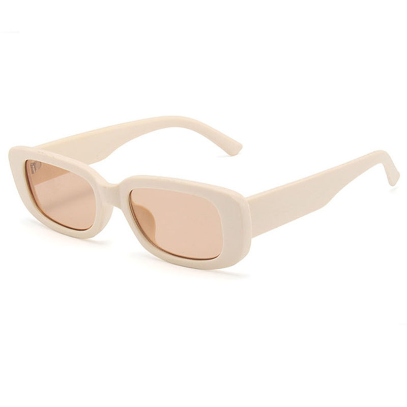 Fashion Narrow Square Frame UV400 Sun Protection Eyeglasses Vintage Rectangle Sunglasses Women Retro Driving Glasses
