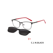 2 In 1 2020 Magnet Sunglasses Male Brand Design Removable Lens Rectangle Clip on Myopia Sun Glasses Driving