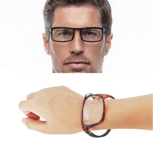 2021 New TR90 wristwatch reading glasses folding watch Presbyopic glasses Portable Pocket Reading Eyewear Magnifying glasses