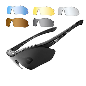 DL-0089 Polarized Sports Men Sunglasses Road Cycling Glasses Mountain Bike Bicycle Riding Protection glasses men Eyewear 5 Lens