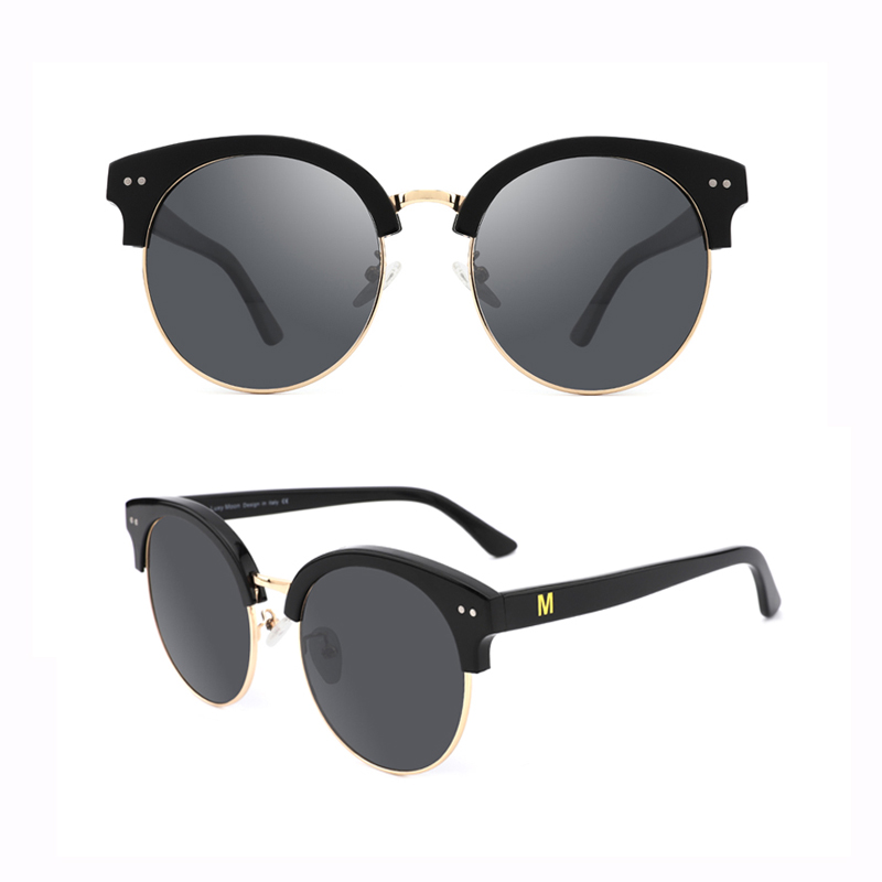Retro Mens Sunglasses for Men Half Metal Women Sun glasses