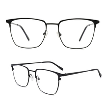 Square Eyeglasses Non-prescription Oversized Eyewear Metal Frame for Women Men