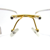 Rimless metal reading glasses for men gold color