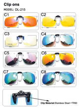 Polarized Clip On Sunglasses Men Women Driving Night Vision Eyewear UV400 Cycling Fishing Glasses Clips
