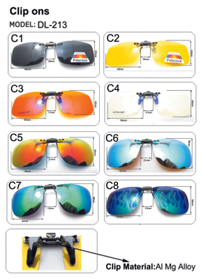 Polarized Clip On Sunglasses UV 400 Metal Clip-on Flip-up Driving Glasses lens Black/Brown Color Sunglasses