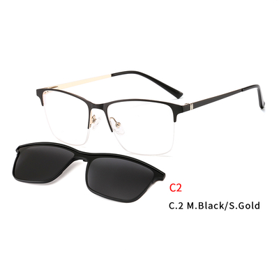 2 In1 Sun Glasses For Women Eyeglasses Frame With Magnet Clip On Sunglasses Female