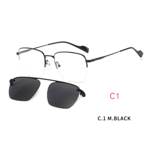 2 In1 Clip On Sunglasses Men Women Polarized Clip On Glasses Magnetic Sunglasses Optical Prescription Eyewear Frames Eyeglass